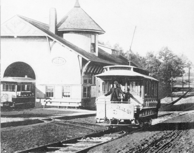 Atlanta's first electric streetcar, 1889 streetcarground at the southern end of Stephen Long marking the terminus of the W&A 1837