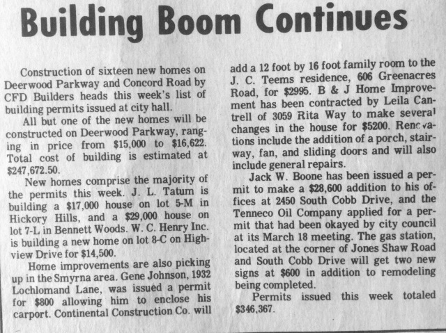 Building Boom Continues article, 1968