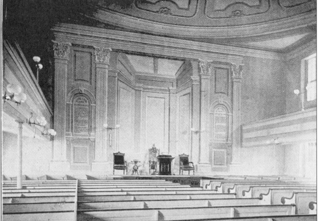 First Church of Brighton, 1808 (interior)