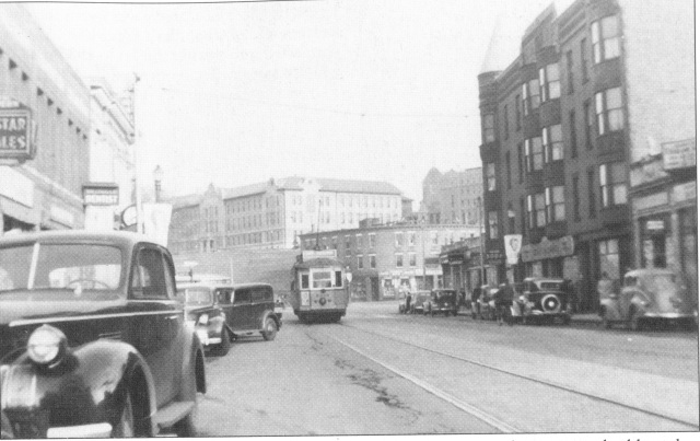 Nagle Building and eastern end of Brighton Center, 1939