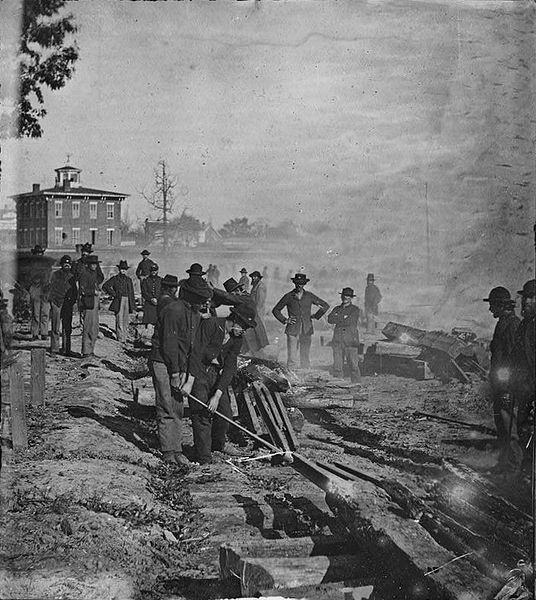 The Burning of Atlanta by Sherman's troops