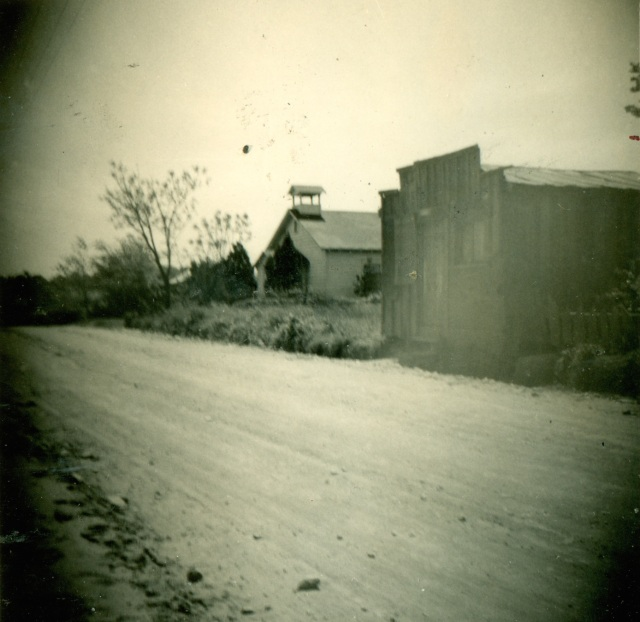 13. Davenport Town (old Negro community0 showing Baptist Church and store