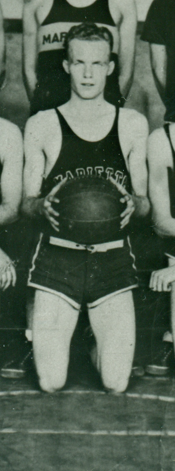 3. Arthur Bacon, Captain, Marietta High School Basketball Team, 1939