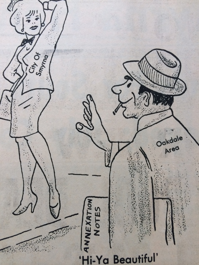 88. Annexation cartoon (oakdale) SH 1-23-64, p. 2